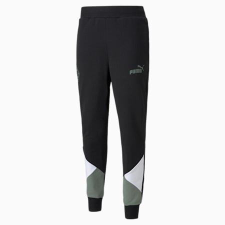Pantalones de fútbol para hombre BMG FtblCulture, Puma Black-Laurel Wreath, small