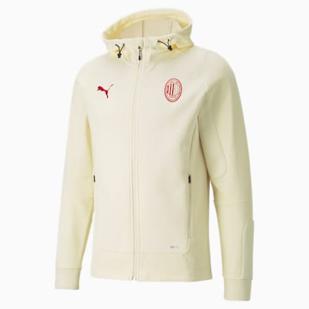 ACM Casuals Herren Fußball-Jacke mit Kapuze, Afterglow-Tango Red, small