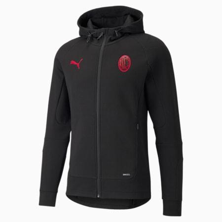 ACM Casuals Herren Fußball-Jacke mit Kapuze, Puma Black-Tango Red, small