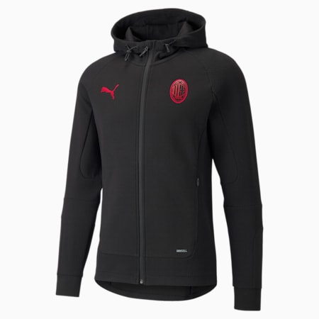 Blouson à capuche de foot ACM Casuals homme, Puma Black-Tango Red, small