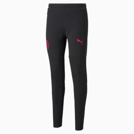 ACM Casuals Men's Football Sweatpants, Puma Black-Tango Red, small-GBR