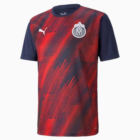 Camiseta de fútbol de concentración de Chivas para hombre, Peacoat-Rosso Corsa, pequeño