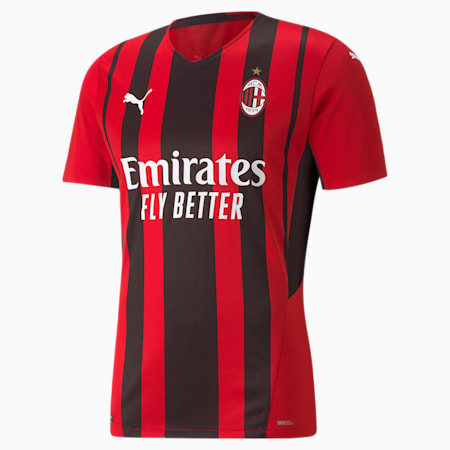 AC Milan Home Authentic Men's Jersey, Tango Red -Puma Black, small