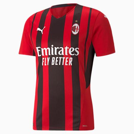 Camiseta para hombre auténtica de la 1.ª equipación AC Milan, Tango Red -Puma Black, small
