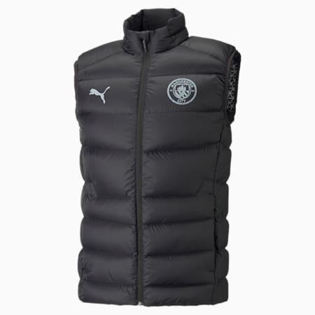 Man City Casuals Down Men's Football Vest, Puma Black, small-GBR