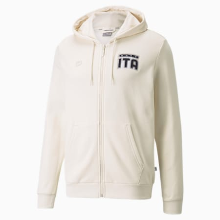 FIGC FtblFeat Full-Zip Men's Football Hoodie, no color, small