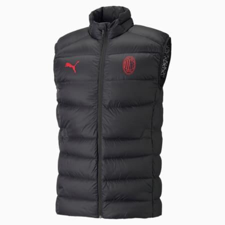 Veste de football en duvet AC Milan Casuals Homme, Puma Black-Tango Red, small