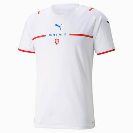 Czech Republic Men's Away Replica Jersey, Puma White, small