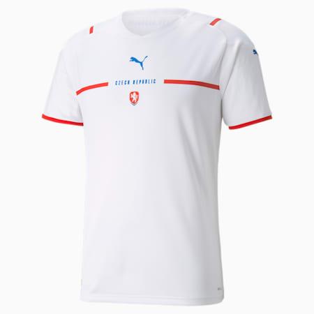 Réplica de camiseta de visitante de la República Checa para hombre, Puma White, pequeño