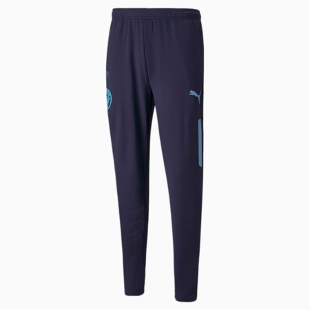 Pantaloni da calcio Man City Prematch da uomo, Peacoat-Team Light Blue, small