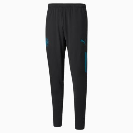 Męskie piłkarskie spodnie Man City Prematch, Puma Black-Ocean Depths, small