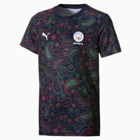 Camiseta deportiva para jóvenes Man City Esports, Peacoat, small
