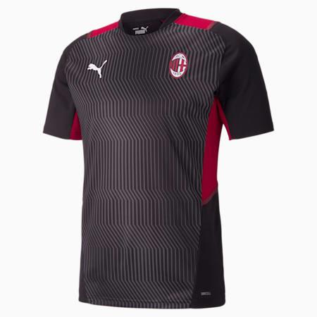 Camiseta de entrenamiento AC Milan para hombre, Puma Black-Tango Red, pequeño