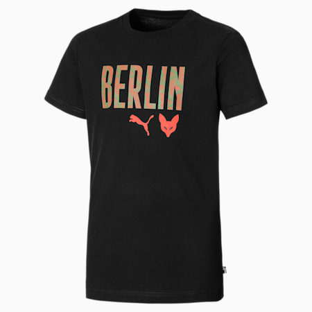Füchse Berlin Graphic Youth Tee, Puma Black, small