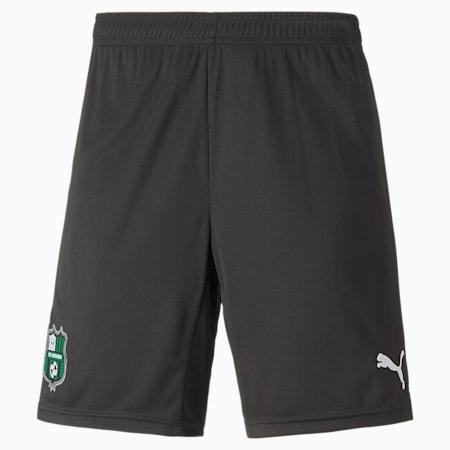 US Sassuolo Home Men's Football Shorts, Puma Black-Green Bee, small