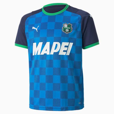 Réplica de la tercera camiseta del US Sassuolo para hombre, Electric Blue Lemo-Green Bee, small