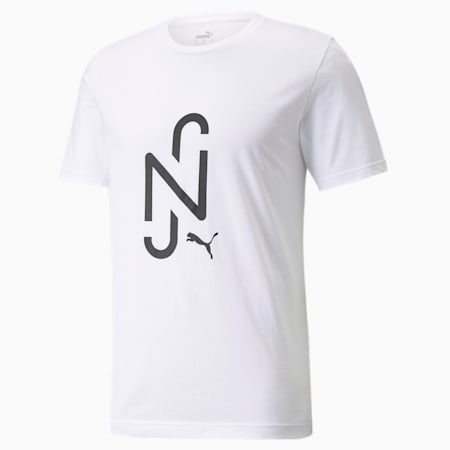 Neymar JR Logo Kids Tee, Puma White, small