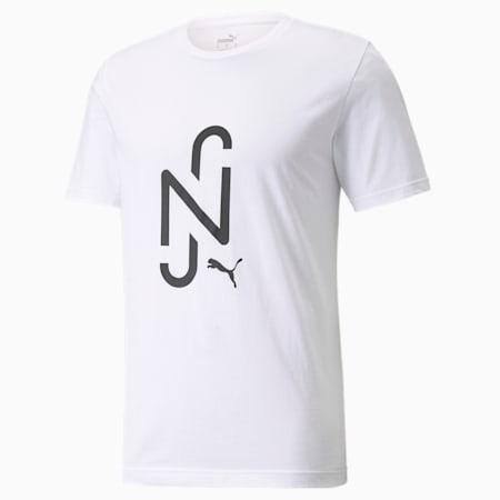 Neymar JR Logo Kids Tee, Puma White, small