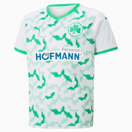 Młodzieżowa koszulka piłkarska klubu SpVgg Greuther Fürth do stroju domowego 21/22, Puma White-Bright Green, small