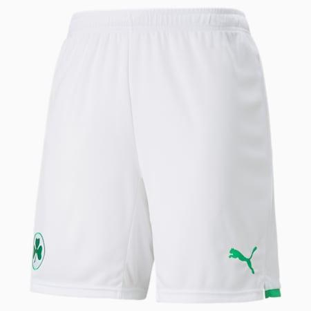 Shorts de fútbol para hombre de la 1.ª equipación del SpVgg Greuther Fürth, Puma White-Bright Green, small