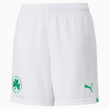 SpVgg Greuther Fürth Home Youth Football Shorts, Puma White-Bright Green, small