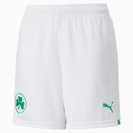 Short de football Domicile SpVgg Greuther Fürth enfant et adolescent, Puma White-Bright Green, small