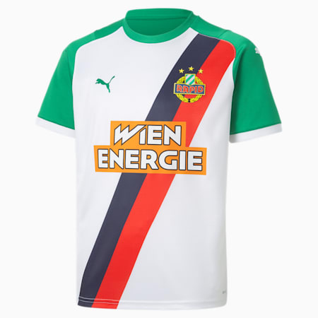 Rapid Wien Home Youth Jersey, Puma White-Jelly Bean, small