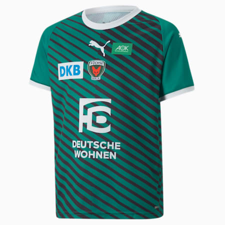 Füchse Berlin Home Youth Jersey 21/22, Pepper Green-Puma White, small