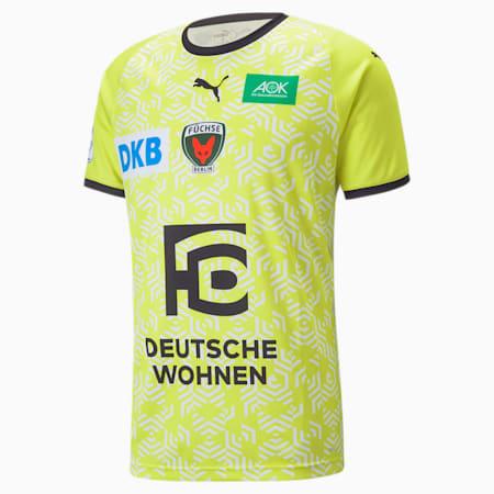 Füchse Berlin Away Men's Jersey 21/22, Safety Yellow-Puma Black, small