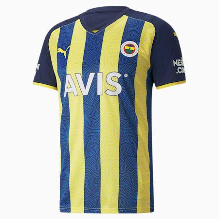 Camiseta de la 1.ª equipación del Fenerbahçe S.K para hombre, Blazing Yellow-Medieval Blue, small