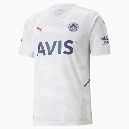 Camiseta de visitante del FSK Fenerbahçe para hombre, Glacier Gray-Puma White, pequeño