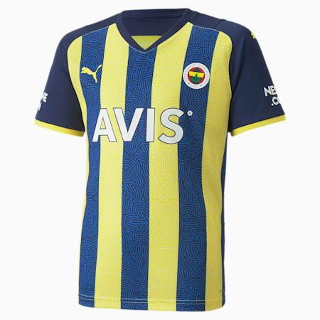 Camiseta juvenil de la 1.ª equipación del Fenerbahçe S.K, Blazing Yellow-Medieval Blue, small