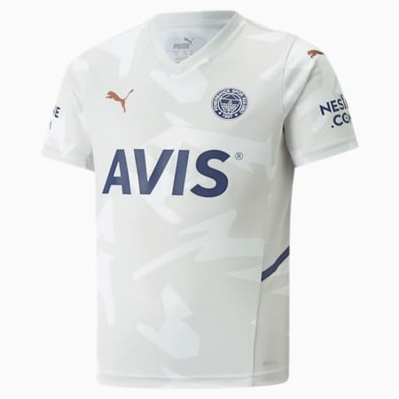 Camiseta juvenil de la 2.ª equipación del Fenerbahçe S.K, Glacier Gray-Puma White, small