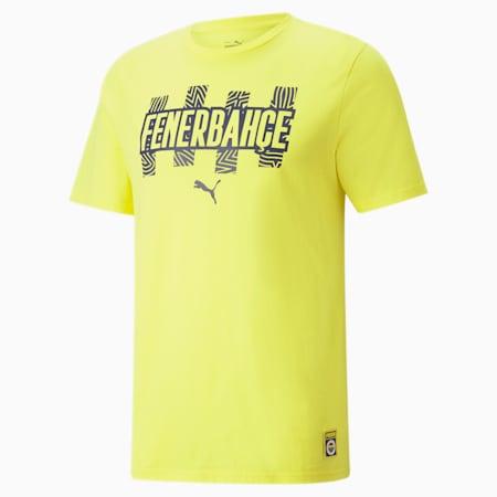 Fenerbahçe S.K. ftblCore Men's Tee, Blazing Yellow-Medieval Blue, small