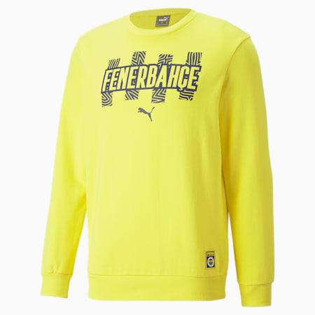 Fenerbahçe S.K. ftblCore Crewneck Men's Sweater, Blazing Yellow-Medieval Blue, small