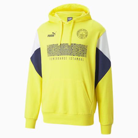 Fenerbahçe S.K. ftblCulture Men's Hoodie, Blazing Yellow-Medieval Blue, small