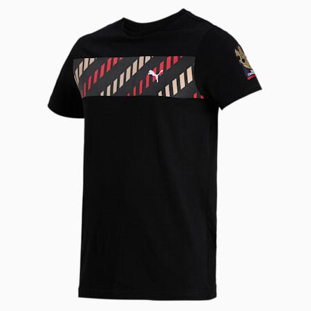 Royal Challengers Bangalore Men's Fanwear  Graphic  Slim-fit T-shirt, Puma Black, small-IND