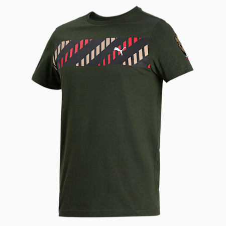Royal Challengers Bangalore Men's Fanwear  Graphic  Slim-fit T-shirt, Forest Night, small-IND