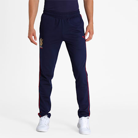 Royal Challengers Bangalore Men's Fanwear  Pants, Peacoat, small-IND
