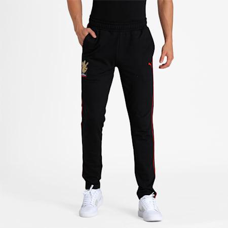 Royal Challengers Bangalore Men's Fanwear  Pants, Puma Black, small-IND