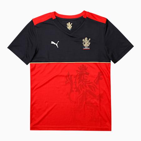 Royal Challengers Bangalore Virat Kohli Kid's Fan Regular-fit Jersey, Puma New Navy-Fiery Red, small-IND