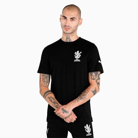 Royal Challengers Bangalore Graphic Men's T-Shirt, Puma Black-Puma White, small-IND