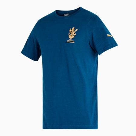 Royal Challengers Bangalore Graphic Men's T-Shirt, Intense Blue-Puma White, small-IND