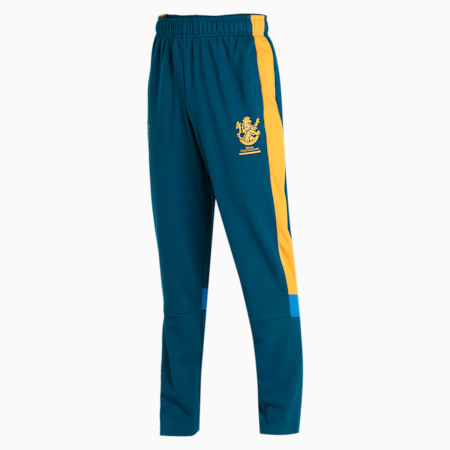 Royal Challengers Bangalore Colourblocked Men's Knitted Pants, Intense Blue-Mineral Yellow, small-IND