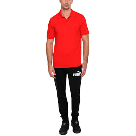 Esn Polo white, puma red, small-IND