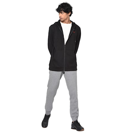 Hooded Track Jacket, black, small-IND