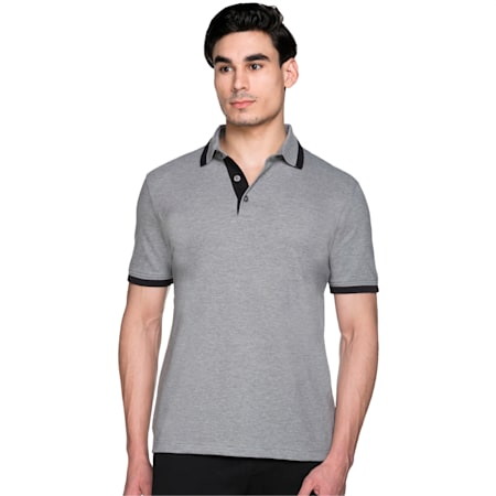 Tipping Men's Polo T-shirt, medium gray heather-black, small-IND