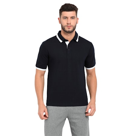 Tipping Men's Polo T-shirt, new navy-white, small-IND
