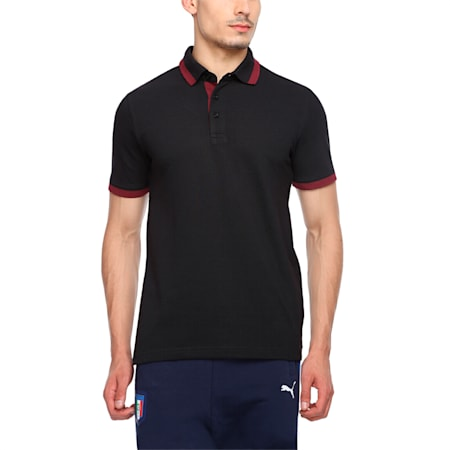 Tipping Men's Polo T-shirt, black-zinfandel, small-IND