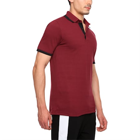 Tipping Men's Polo T-shirt, zinfandel-black, small-IND